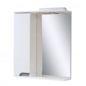 Дзеркало для ванної кімнати СІМПЛ 70 металік ліве з LED підсвічуванням Пік