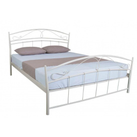 Ліжко двоспальне металеве Селена з поголов'ям Melbi