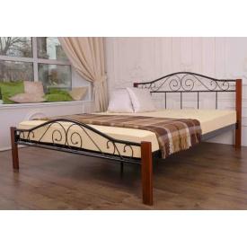 Ліжко двоспальне металеве Еліс Люкс Вуд Melbi 160х200