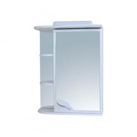 Шафа навісний дзеркальний для ванної кімнати БАЗИС 55 з підсвічуванням правий Пік