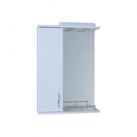 Дзеркало для ванної кімнати Пік БАЗИС 50 ліве бортик з підсвічуванням