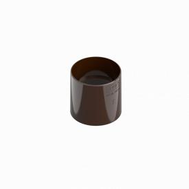 З'єднувач труби INES 80 мм RAL 8017 коричневий
