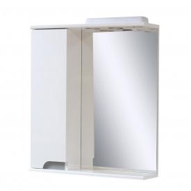Дзеркало для ванної кімнати СІМПЛ 60 металік ліве з підсвічуванням Пік