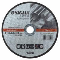 Круг отрезной по металлу и нержавеющей стали 180х2.0х22.2 мм 8500 об/мин SIGMA (1940241)