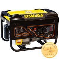 Генератор бензиновый 2,5/2,8 кВт 4-х тактный ручной запуск Pro-S SIGMA (5710521)