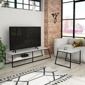 Тумба под телевизор + кофейный столик GoodsMetall в стиле Лофт 1500х380х450 Т123