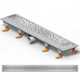 Душевой канал 650 мм с полированной решеткой Бейзик полированная нержавеющая сталь горизонтальный