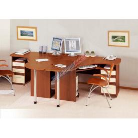 Письменный компьюторный угловой стол Готовый комплект СК3727 1430 мм