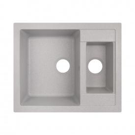 Кухонная мойка с дополнительной чашей Lidz 615x500/200 GRA-09 (LIDZGRA09615500200)