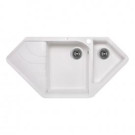 Кухонная мойка с дополнительной чашей Lidz 1000x500/225 WHI-01 (LIDZWHI011000500225)