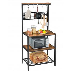Стелаж кухонний GoodsMetall металевий в стилі Лофт 1700х850х400 СТЖ1192