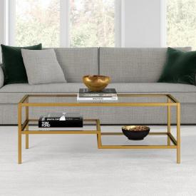 Журнальний кавовий столик GoodsMetall в стилі Лофт 1200х500х450 ЖС162