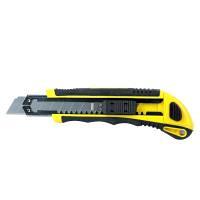 Нож пластик резина корпус лезвие 3 шт 18 мм автоматический замок SIGMA (8211111)