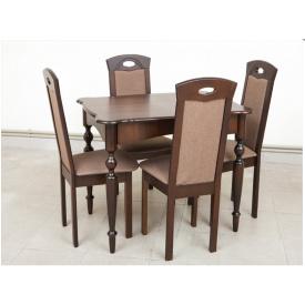 Кухонний комплект Омега стіл розсувний 4 стільця горіх темний