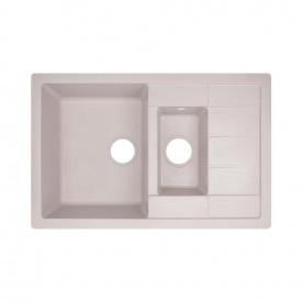 Кухонная мойка с дополнительной чашей Lidz 780x495/200 COL-06 (LIDZCOL06780495200)
