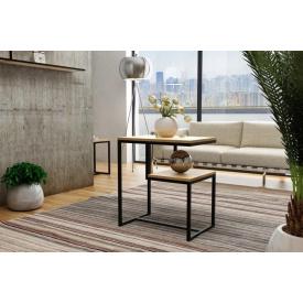 Журнальний кавовий столик GoodsMetall в стилі Лофт 650х600х400 ЖС105