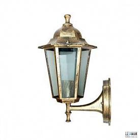 Фасадный садово-парковый светильник Lemanso PL6201 античное золото