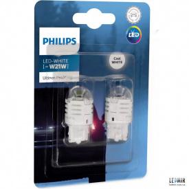 Светодиодная автолампа Philips W21W 12V 1,75W W3x16D комплект (2шт)