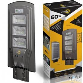 Уличный светодиодный светильник Vargo UNILITE 60W-6500K на солнечной батарее с датчиком движения