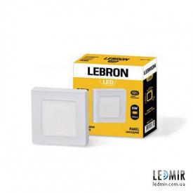 Светодиодный светильник Lebron Квадрат накладной 6W-4100K