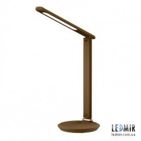 Светодиодная настольная лампа Lebron 9W-3000-6500K Коричневая