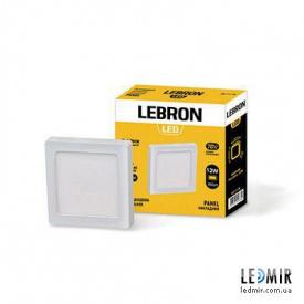 Светодиодный светильник Lebron Квадрат накладной 12W-4100K