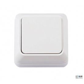 Выключатель одноклавишный Techno Systems LEON белый