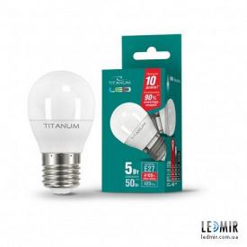 Світлодіодна лампа Titanum G45 5W-E27-4100K