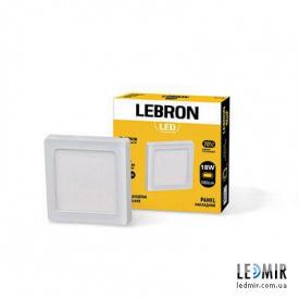 Светодиодный светильник Lebron Квадрат накладной 18W-4100K