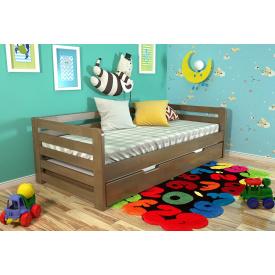 Ліжко з масиву Сосни Немо Арбор Горіх