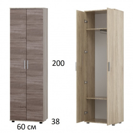 Шкаф на две двери ШП-1 Дуб Сонома + Трюфель