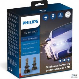 Светодиодная автолампа Philips H7 12/24V 18W PX26D комплект (2шт)