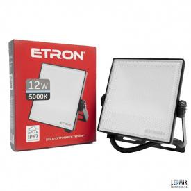 Светодиодный прожектор ETRON 1-ESP-202 12W-5000К черный