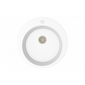 Гранітна мийка Idis Fusion №1 490 White