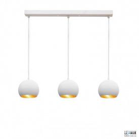 Потолочный подвесной светильник NL 1512-3 WH+GD белый