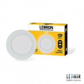 Светодиодный светильник Lebron Круг 3W-4100K