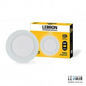 Светодиодный светильник Lebron Круг 6W-4100K