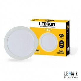 Светодиодный светильник Lebron Круг 12W-6500K