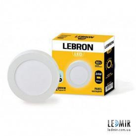 Светодиодный светильник Lebron Круг накладной 24W-6500K