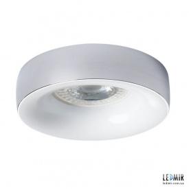 Встраиваемый светильник Kanlux ELNIS L C/W GU10 Хром / Белый