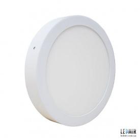 Светодиодный светильник Powerlux Круг накладной Downlight 18W-3000K