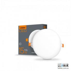 Світлодіодний безрамковий світильник Videx Коло 15W-4100K