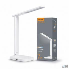 Светодиодная настольная лампа Videx 7+5W-3000-6500K Белая