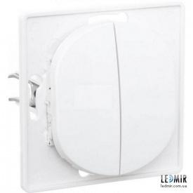 Выключатель двухклавишный Aling-Conel EON E606,0 белый