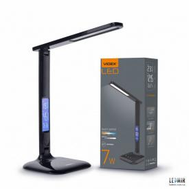 Светодиодная настольная лампа Videx 7W-3000-5500K Черная