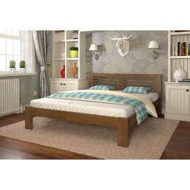 Двоспальне ліжко з дерева 160х200 щит Бука Шопен Горіх