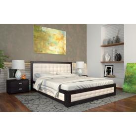 Двуспальная кровать с подъемным механизмом из дерева 160х200 щит Сосны Рената М Венге магия