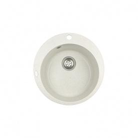 Гранітна мийка Idis Fusion №1 490 Snow