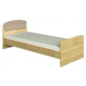 Ліжко односпальне 80х190 Асторія-2 Еверест Дуб сонома+Трюфель