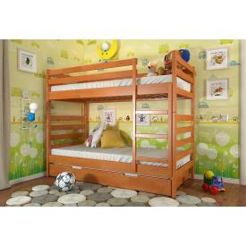 Кровать двухярусная из массива Бука Рио Арбор